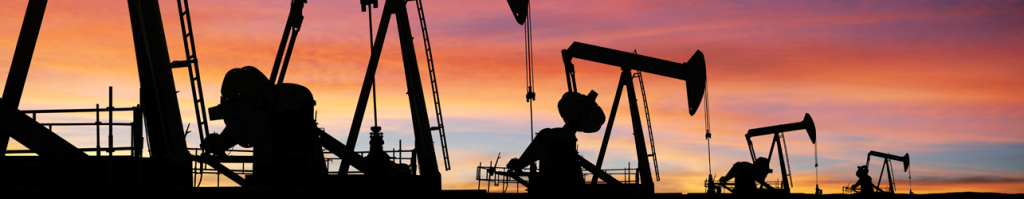 1285x250 Pumpjack Silhouettes